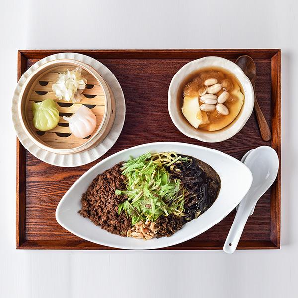 黒胡麻担々麺セット(汁なし)