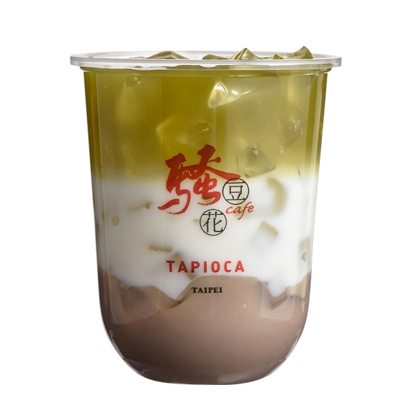 タロイモ緑茶ミルク